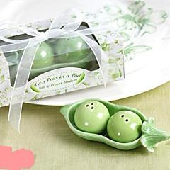 Funny Cartoon Green Bean Diseño Salt & Pepper (1 PCS)