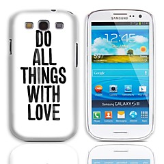 Cool Saying Design Back Case with 3-Pack Screen Protectors for Samsung Galaxy S3 I9300