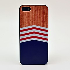 Wood and Wave Pattern Hard Case for iPhone 5/5S