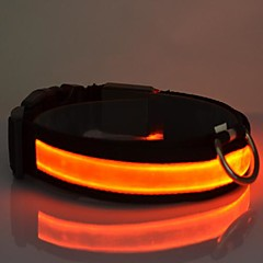Gatos / Perros Collar Reflexivo / Luces LED / Ajustable/Retractable Rojo / Blanco / Verde / Azul / Rosado / Amarillo / Naranja Nilón