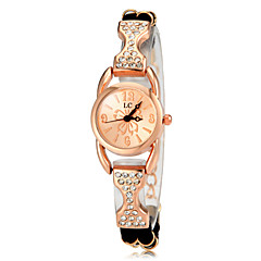 Women's Diamante Rose Gold Round Dial PU Band Quartz Analog Fashion Watch(Assorted Color) Cool Watches Unique Watches