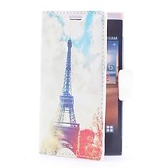 Eiffel Handdoek Leather Case met Card Slot en staan voor LG L5/E610/E612