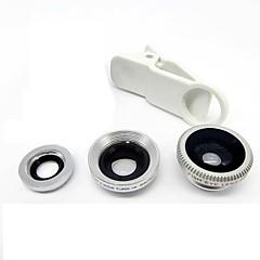 Universele Clip Lens Groothoek + Macro + Fisheye Lens - Zilver