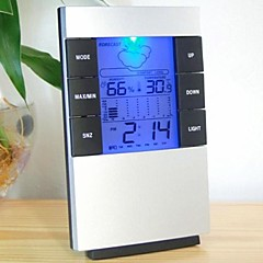 """2.7 """"LCD Luminous Väder termometer + hygrometer w / väckarklocka"""
