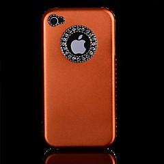 Diamond Aluminum Chrome  Hard Case for iPhone 4/4S (Assorted Colors)
