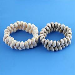 Unisex Sea Snail Shell Pattern Flexible Bracelet 1pc