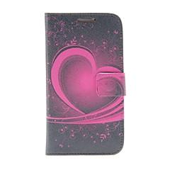 Kinston Heart Of Art Pattern PU Leather Full Body Case telineellä Samsung S4 I9500