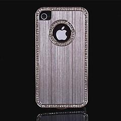 luxe geborsteld aluminium bling kristal diamant metalen harde case voor iPhone 4/4s (diverse kleuren)