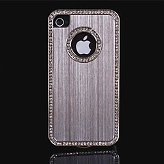 bling luksus szczotkowanego aluminium kryształ diament metalu twarde etui do iPhone 4/4S (różne kolory)