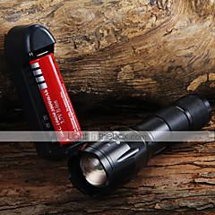 LED taskulamput / Käsivalaisimet LED 3 Tila 1600 Lumenia Säädettävä fokus Cree XM-L T6 18650Telttailu/Retkely/Luolailu /