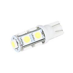 Merdia 5W 200LM T10 9x5050SMD LED de luz blanca luz de la matrícula / Instrumento de la lámpara (2 PCS/12V)