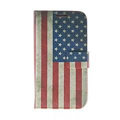 Kinston American Flag Pattern PU Leather Full Body Case telineellä Samsung S4 I9500