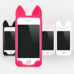 Cute Cat Soft Case de silicone para iPhone 4/4S (cores sortidas)