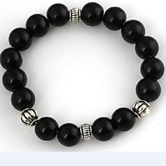 Women's Black Agate And Crystal Bracelet