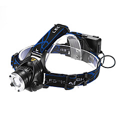 Fokus laras 3-Mod 1xCree XM-L T6 kalis air Headlamp (2x18650, 1200LM)