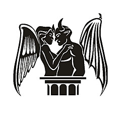 Angel and Demon Pattern Decorative Car Sticker