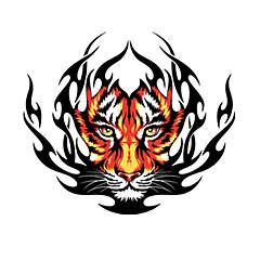 Fire Tiger vzor Dekorativní Auto samolepka