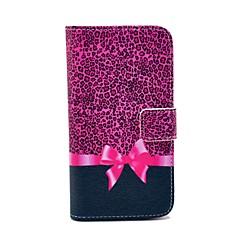 Rose Leopard Bow Pattern PU nahkainen Money Holder korttipaikka Samsung Galaxy S3 I9300