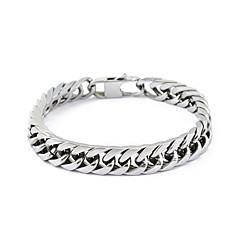 Stainless Steel Silver Link Chain Bracelet