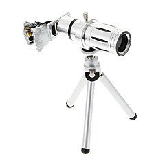 삼각을 가진 보편적 인 줌 12 배 망원 금속 핸드폰 렌즈