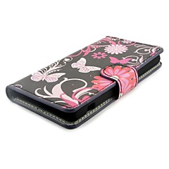 Flower Wallet PU Leather with Stand Case Cover for Sony Xperia Z1 Compact D5503 Z1 mini