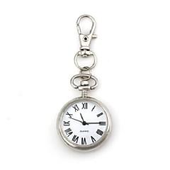 Motif rond unisexe chiffres arabes quartz métallisé trousseau Watch