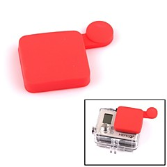 G-312-R PANNOVO Professional Protective Silicone Lens Cover Set for GoPro Hero 3+