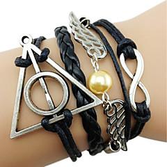 Angel Wings Harry Porter Infinity Multi-Layer  Handmade Leather Rope Bracelet