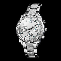 Women's Diamante Dial Number Round Dial Steel Band Quartz Luxury Watch (Assorted Color) Cool Watches Unique Watches