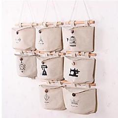 Linen Cotton Hanging Storage Bag