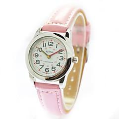 아이들의 캐주얼 스타일 PU 밴드 석영 손목 시계 (분류 된 색깔)