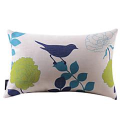 Bird & Flowers Cotton / Linen dekoracyjne poduszki Okładka