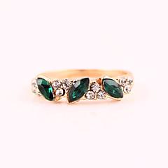 doce anel r598 esmeralda retro das mulheres