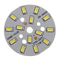 7W 600-650LM Cool White Light 5730SMD Integroitu LED-moduuli (21-24V)