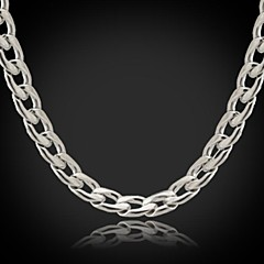 U7® Never Fade Men's Link Cuban  Chain Necklace For Men 316L Titanium Steel 5MM 18Inches (46CM)