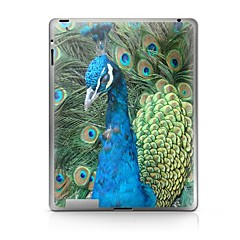 Peacock Padrão Etiqueta protetora para iPad 1/2/3/4