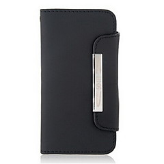Glossy Surface Design Synthetic Leather Protective Flip Case with Magnetic Snap for iPhone 5/5S