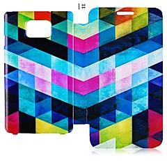 Σειρά γεωμετρικό σχήμα Δερμάτινη Θήκη Full Body για το Samsung Galaxy S2 I9100 (Ποικιλία χρωμάτων)