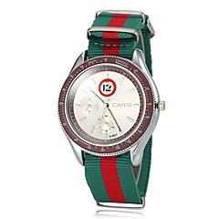 Men's Colorful Fabric Band Quartz Wrist Watch (Assorted Colors)