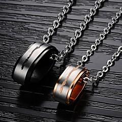 (2st) oskiljaktiga vänner symbol för evig kärlek set skruv guldpläterad titan stål par halsband bästa vänner halsband