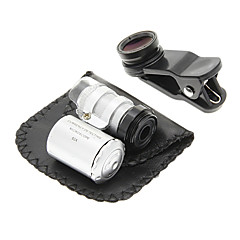 Téléphone portable clip et 60 fois grossissement Lens Set