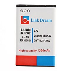 링크 드림 고품질 3.7V 노키아 2650,5100,6100,6101,6103,6125,6131위한 1390 MAH 휴대 전화 배터리 (BL-4C)
