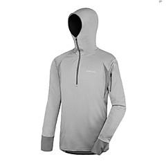 AMADIS Gray Polyester Long Sleeve Anti-UV Fishing Hoodie