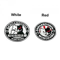 Emblem Inspireret af Dangan Ronpa Monokuma Anime / Videospil Cosplay Tilbehør Emblem Hvid / Sort / Rød Polyester Mand