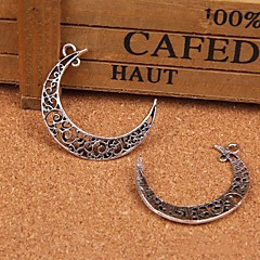 Eruner®39*9MM Alloy Hollow Out Moon Charms Pendants Jewelry DIY (5PCS)