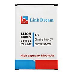 삼성 주 3 N9000 N9005 N9002 N900 N900A에 대한 링크 드림 고품질 3.7V 위해 4500mAh 셀 PHonr 배터리 (B800BE)