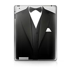 En Suit mønster beskyttende Sticker til iPad 1/2/3/4