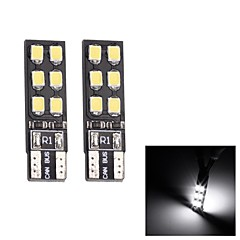 MerdiaT10 3.5W 180LM 12x2835SMD LED White Light Clearance Lampe / Instrument Lamp (Pair/12V)