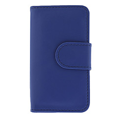 Blue Wallet PU Leather Credit Card Holder Pouch Case for iPhone 4/4S