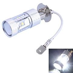 H3 30W 600LM 6xCree XB-D R3 White LED for Car Foglight (DC12-24V, 1Pcs)